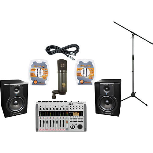 M-Audio Zoom R24 and M-Audio BX5a Recording Package