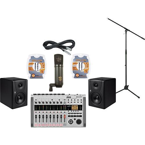 Mackie Zoom R24 and Mackie MR5 Recording Package