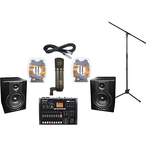 m audio zoom r8 and m audio bx5a recording package musician 39 s friend. Black Bedroom Furniture Sets. Home Design Ideas
