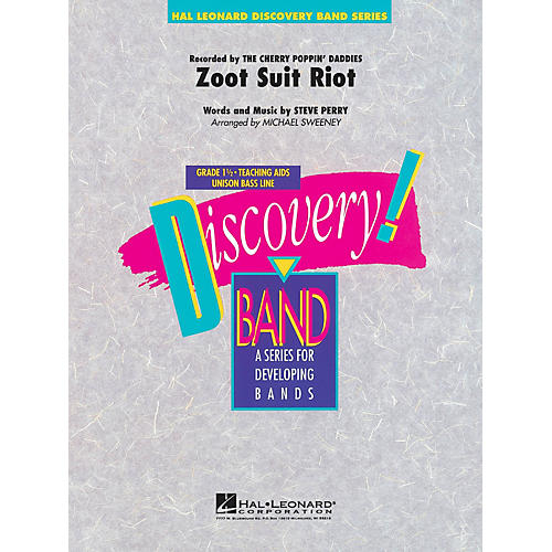 Hal Leonard Zoot Suit Riot Concert Band Level 1 1/2 by Cherry Poppin' Daddies Arranged by Michael Sweeney-thumbnail