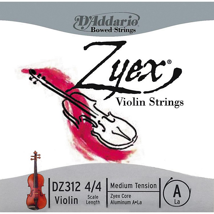 D'Addario Zyex 4/4 Violin A String Aluminum  Medium