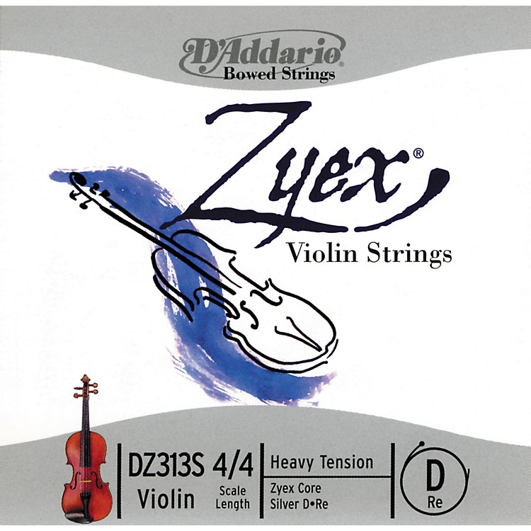D'AddarioZyex 4/4 Violin D String SilverHeavy