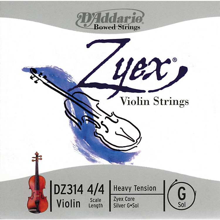 D'AddarioZyex 4/4 Violin String G SilverHeavy