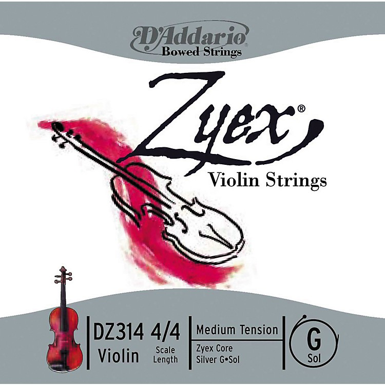 D'Addario Zyex 4/4 Violin String G Silver  Medium