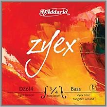 D'Addario Zyex Series Double Bass E String 3/4 Size Light