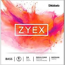 D'Addario Zyex Series Double Bass E String 3/4 Size Medium