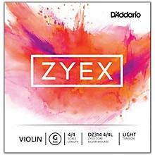 D'Addario Zyex Series Violin G String 4/4 Size Light