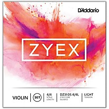 D'Addario Zyex Series Violin String Set 4/4 Size Light, Silver D