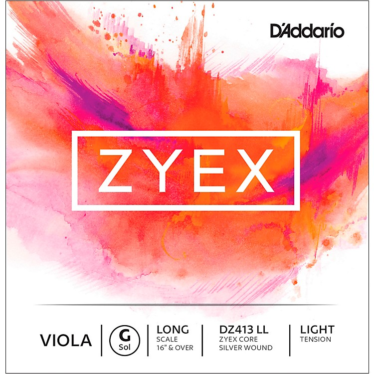 D'Addario Zyex Viola String G Long Scale 4/4 Silver  Light