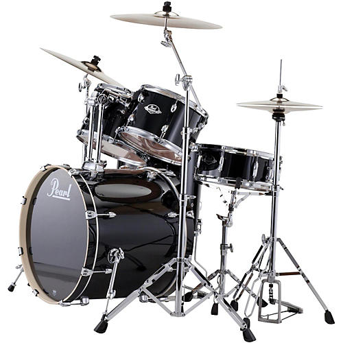 Pearl ePRO Powered by Export Acoustic Electric New Fusion Drumset Jet Black
