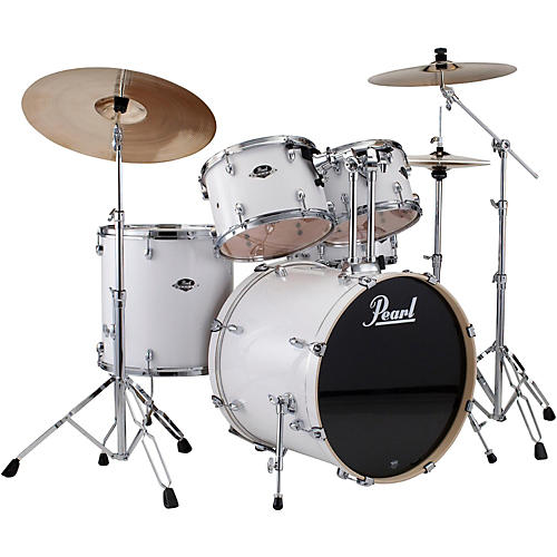 Pearl ePRO Powered by Export Acoustic Electric New Fusion Drumset Pure White