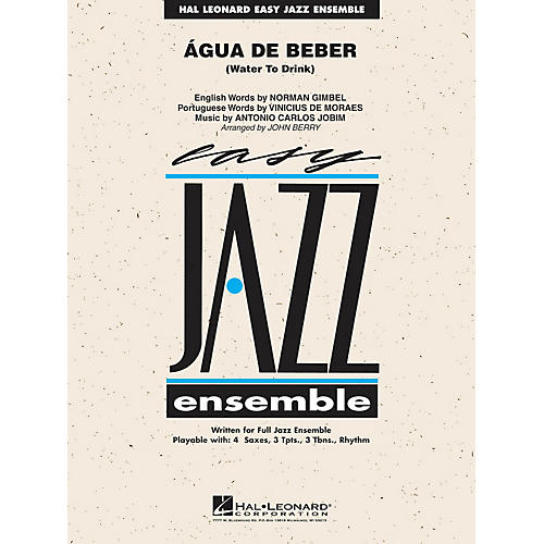Hal Leonard Água de Beber (Water to Drink) Jazz Band Level 2 by Antonio Carlos Jobim Arranged by John Berry-thumbnail