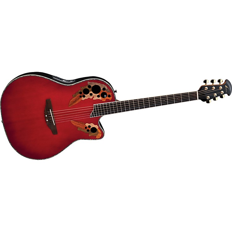 OvationiDea Celebrity Acoustic-Electric Guitar with Built-In MP3 Recorder