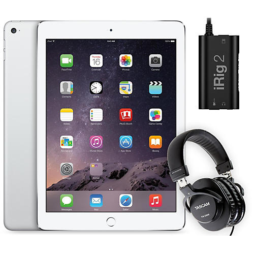 Apple iPad Air 2 16GB Silver with iRig 2 and TH-200X Headphones-thumbnail