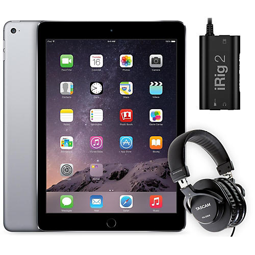 Apple iPad Air 2 16GB Space Grey with iRig 2 and TH-200X Headphones