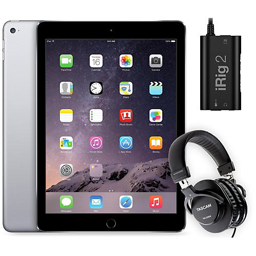 Apple iPad Air 2 MGKL2LL/A with iRig 2 and TH-200X Headphones-thumbnail