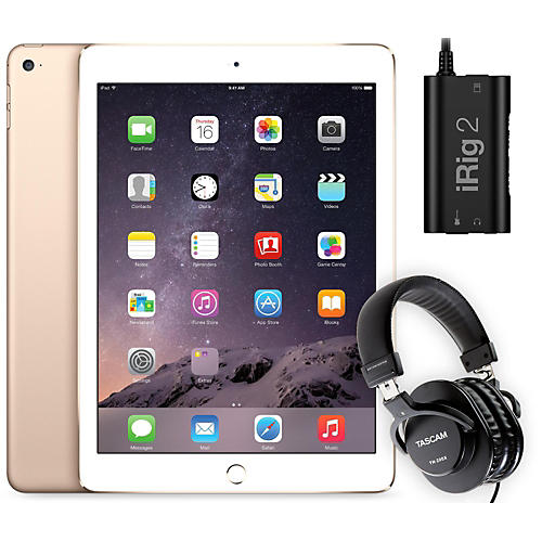 Apple iPad Air 2 MH182LL/A with iRig 2 and TH-200X Headphones-thumbnail