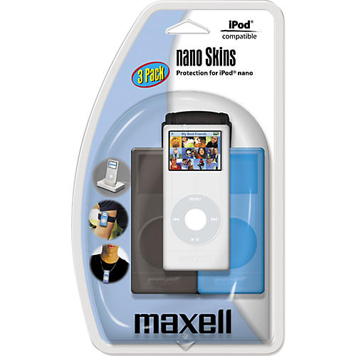 Maxell iPod nano Skins Pack with 3 Colors