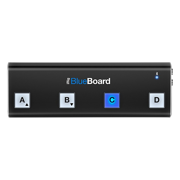IK MultimediaiRig BlueBoard Bluetooth Wireless MIDI Footcontroller for iOS and Mac