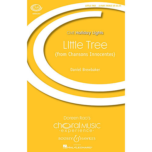 Boosey and Hawkes little tree (from Chansons Innocentes) (CME Holiday Lights) 2PT TREBLE composed by Daniel Brewbaker-thumbnail