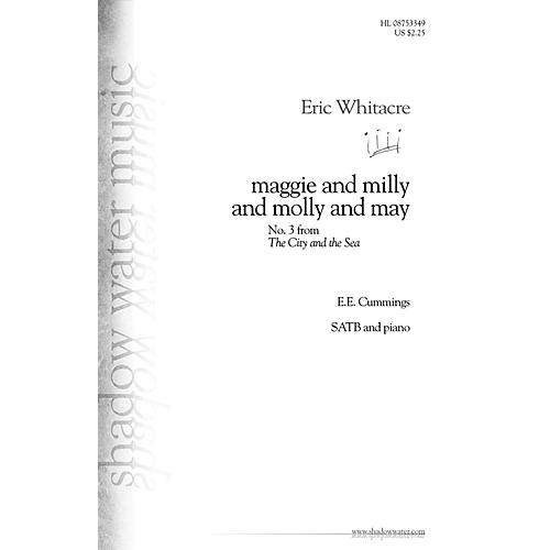 Shadow Water Music maggie and milly and molly and may (No. 3 from The City and the Sea) SATB composed by Eric Whitacre-thumbnail