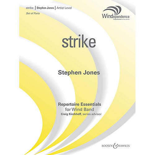 Boosey and Hawkes strike (Score Only) Concert Band Level 5 Composed by Stephen M. Jones-thumbnail