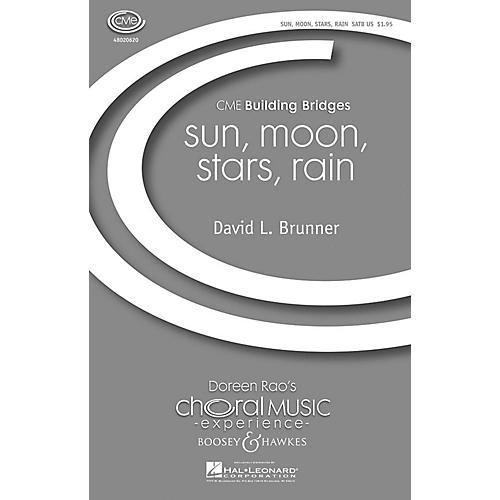 Boosey and Hawkes sun, moon, stars, rain (CME Building Bridges) SATB composed by David Brunner-thumbnail