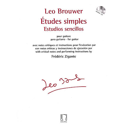 Max Eschig Études simples for Guitar Editions Durand Series Softcover with CD-thumbnail