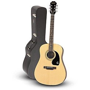 DR-100 Acoustic Guitar Natural with Road Runner RRDWA Case