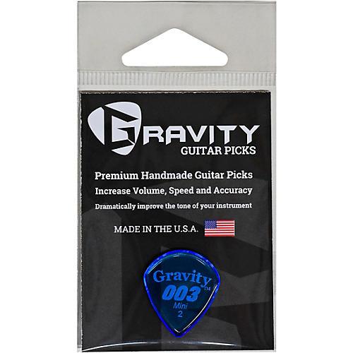 GRAVITY PICKS 003 J3 Mini Polished Blue Guitar Picks 2.0 mm