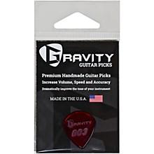 GRAVITY PICKS 003 J3 Polished Red Guitar Picks