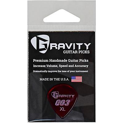 GRAVITY PICKS 003 J3 XL Polished Red Guitar Picks