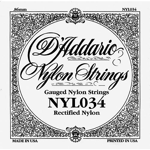 D'Addario 034 Rectified Nylon Guitar Strings