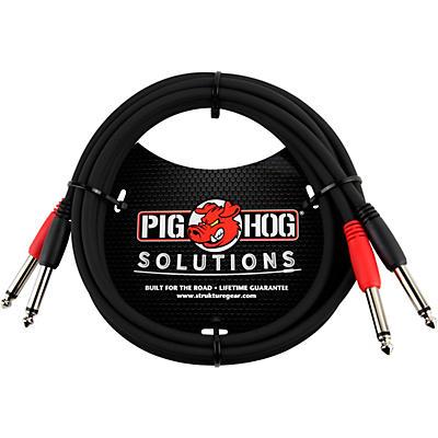 """Pig Hog 1/4"""" - 1/4"""" Dual Cable"""