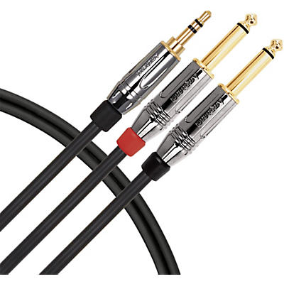 """Livewire 1/8"""" TRS to Dual 1/4"""" Premium Interconnect Cable"""