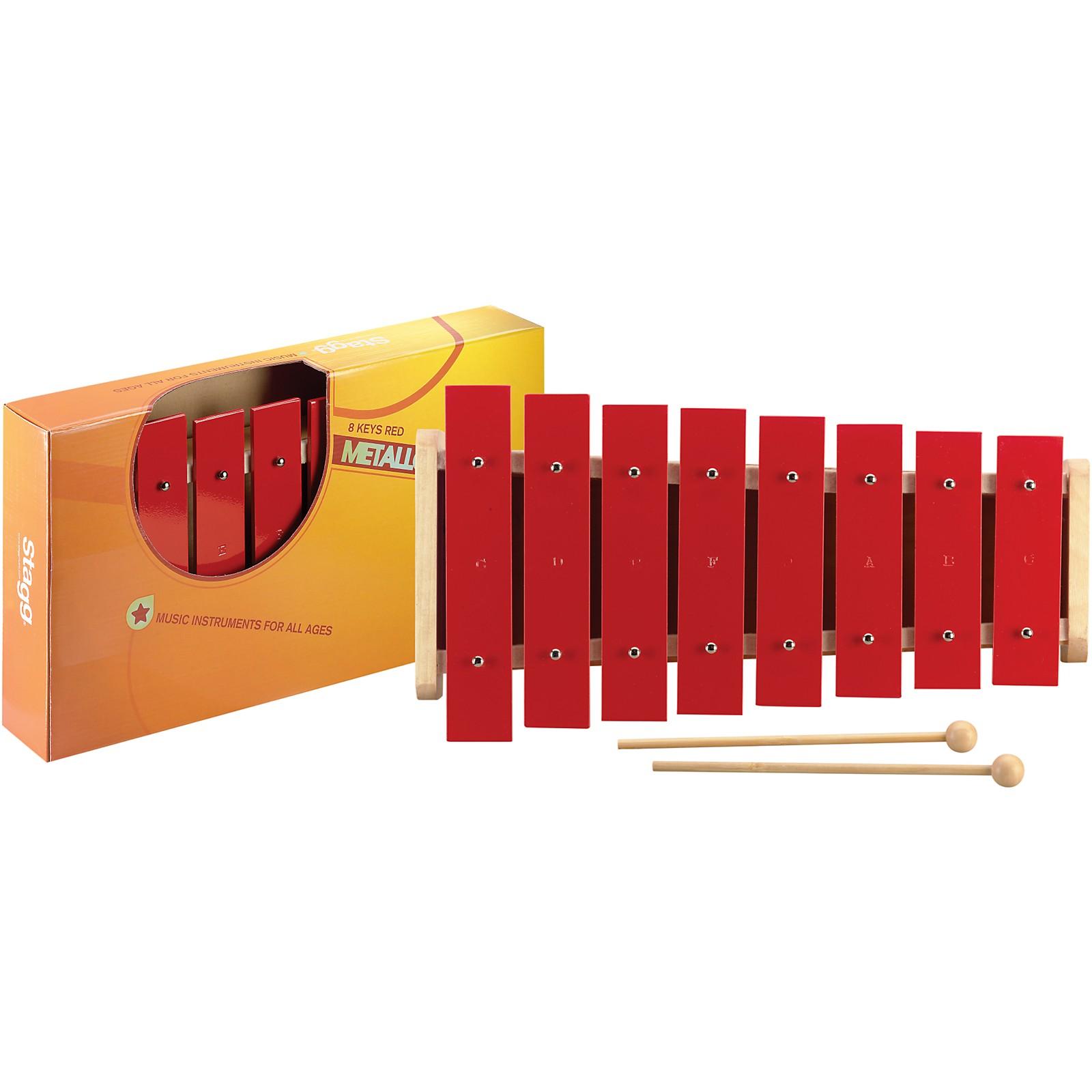 Stagg 1 Octave Metallophone, 8 Keys, C-C