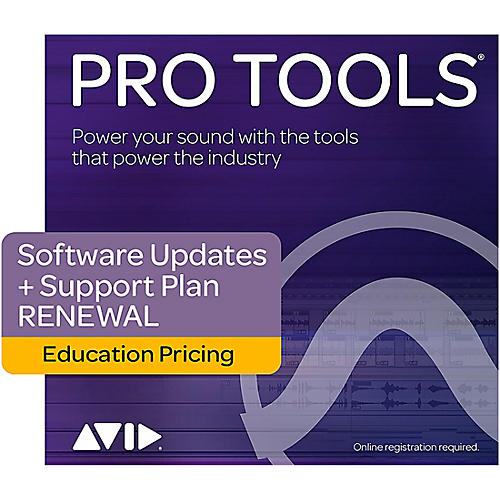 Avid 1-Year Software Updates + Support RENEWAL for Pro Tools Teachers/College Student(Boxed)