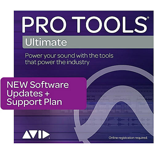 Avid 1-Year Updates + Support for Pro Tools   Ultimate Perpetual License Expired Plan (Boxed)