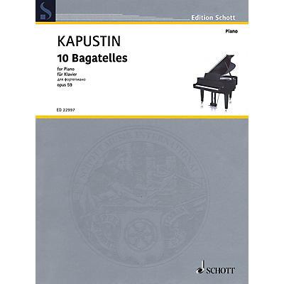 Schott 10 Bagatelles, Op. 59 Piano Solo by Kapustin