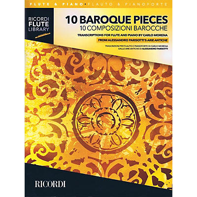 Ricordi 10 Baroque Pieces - Transcribed for Flute and Piano (1-2 Flutes and Piano) Woodwind Solo Series Softcover