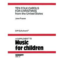 Schott 10 Folk Carols for Christmas Schott Series