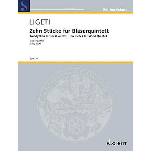 Schott 10 Pieces (Score) Schott Series by György Ligeti