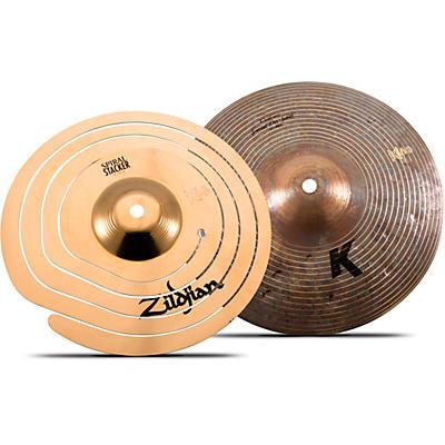 "Zildjian 10"" Spiral + 10"" K Custom Special Dry Stacker"