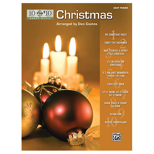 Alfred 10 for 10 Sheet Music Christmas Easy Piano Book