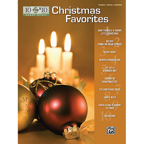 Alfred 10 for 10 Sheet Music Christmas Favorites Piano/Vocal/Chords