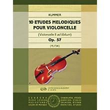 Editio Musica Budapest 10 Études Mélodiques, Op. 57 (Violoncello II ad. lib.) EMB Series by Friedrich August Kummer