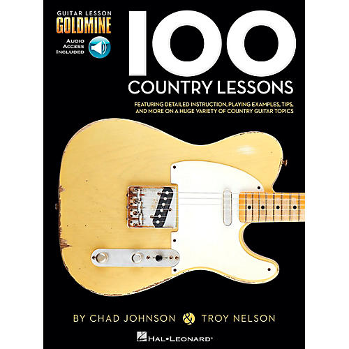 Hal Leonard 100 Country Lessons  Guitar Lesson Goldmine Series Book/CD