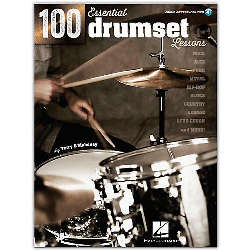 Hal Leonard 100 Essential Drumset Lessons Book/Online Audio