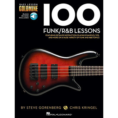 Hal Leonard 100 Funk/R&B Lessons - Bass Lesson Goldmine Series Book/Online Audio