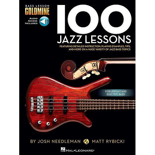 Hal Leonard 100 Jazz Lessons - Bass Lesson Goldmine Series Book/Online Audio